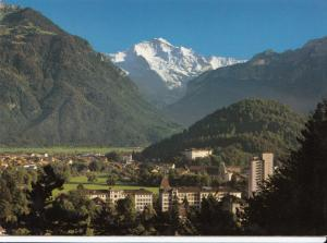 Switzerland, Suisse, Interlaken mit Jungfrau, 1979 used Postcard