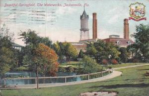 Florida Jacksonville Beautiful Springfield The Waterworks 1910