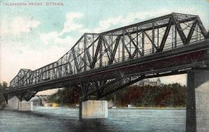 Alexandra Bridge, Ottawa, Ontario, Canada, Early  Postcard, Used