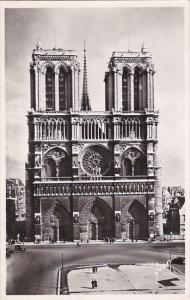 France Paris Notre-Dame facade 1949 Photo