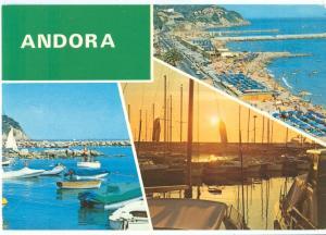 Italy, Andora, multi view, used Postcard