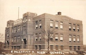 East Palestine Ohio High School Real Photo Vintage Postcard AA12978