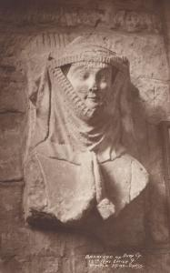 Wimple Head Dress Fashion Mask Bradford On Avon Antique Postcard