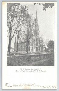 Norwich New York~Methodist Episcopal ME Church~WCTU Prohibition Convention~1906