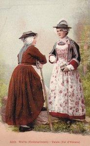 Native women , Wallis (Evolenerinnen) - Valais (Val d'Herens) , Switzerland ,...
