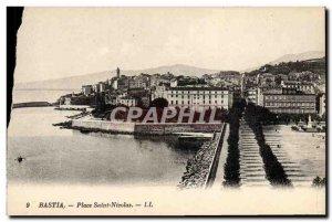 Postcard Old Place Saint Nicolas Bastia