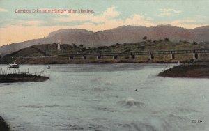 PANAMA CANAL, 1900-1910s; Gamboa Dike Immediately After Blasting