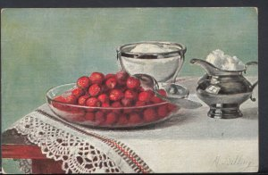 Food Postcard - Artists View of Fruit and Sugar Dessert  DC1622