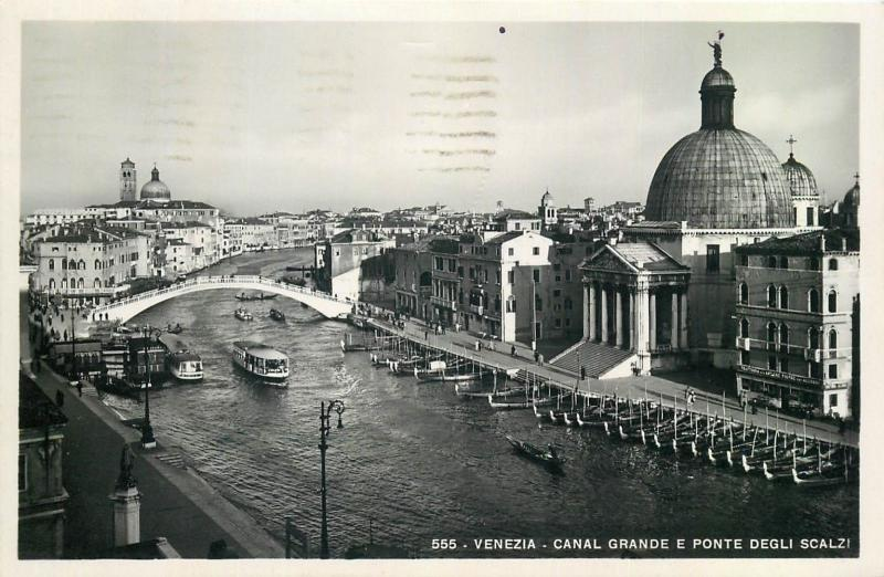 Venice Canal Grande real photo postcard