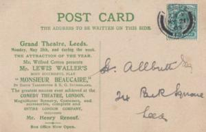 Lewis Waller Comedy Theatre London at Yorkshire Leeds Theatre Rare 1903 Postcard