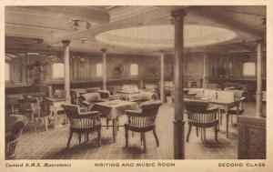 Cunard R.M.S. Mauretania Writing and Music Room Ship 02.05