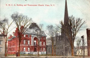 New York Utica Y M C A Building and Westminster Church