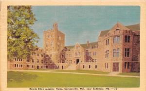 Cockeysville Maryland~Bonnie Blink Masonic Home~1950 Linen Postcard