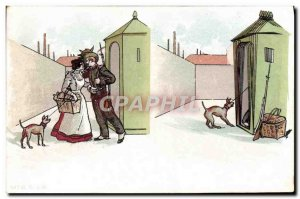 Old Postcard Love Soldier Army Dog