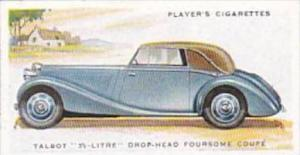 Player Cigarette Card Motor Cars 2nd Series No 47 Talbot 3 1/2 Litre Drop Hea...