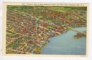 Airplane View of Main Business section and River Front, Elizabeth City, North...