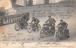 Nos Motorcyclistes a l'entrainement, Sports, Cissac, Danglard, Cave, Lafayette
