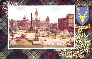 George Square, Cenotaph and Municipal Buildings Glasgow Scotland, UK Unused
