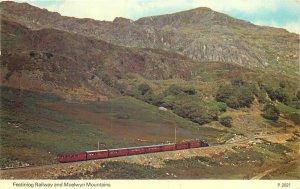 festiniog railway and Moelwyn Mountains Postcard
