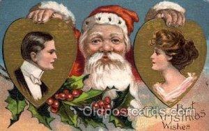 Christmas Santa Claus Unused very light crease left top corner tip, light pai...
