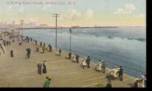 New Jersey Atlantic City A Rolling Chair Parade