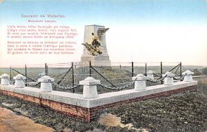 Waterloo Belgium, Belgique, Belgie, Belgien Monument Francais Waterloo Monume...