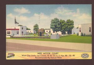 LAS CRUCES NEW MEXICO NEFF MOTOR COURT MOTEL LINEN ADVERTISING POSTCARD