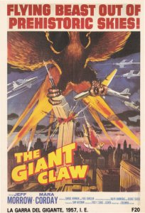 The Giant Claw La Garra Del Gigante Killer Bird Italy Poster Film Postcard