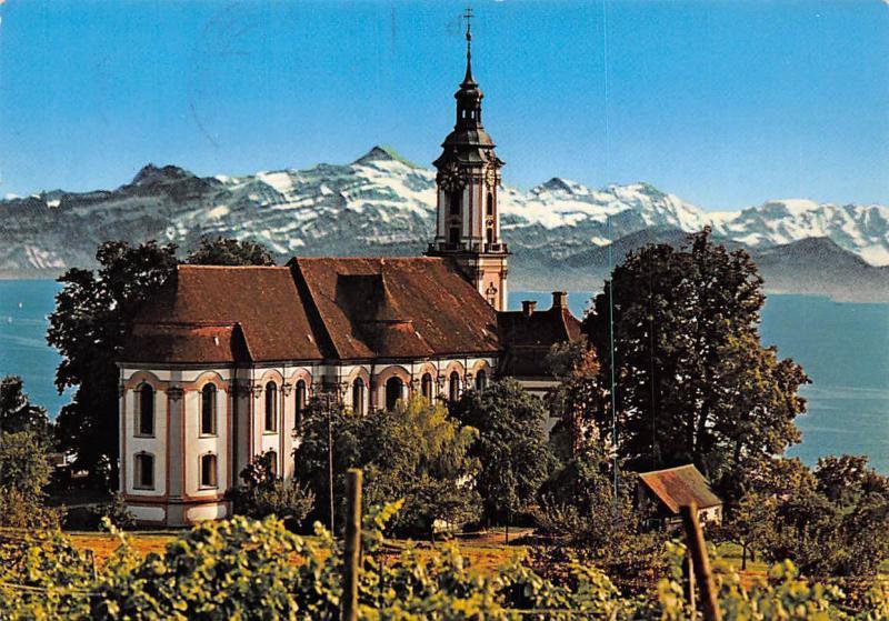 Basilika Birnau am Bodensee mit Blick auf Saentis Church Lake Mountains
