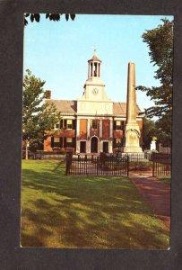 MA Town City Hall Monument Westboro Mass Massachusetts Postcard