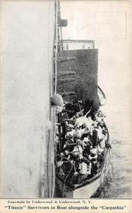 Carpathia Rescue Titanic Ship Post Card Postcards Titanic Ship Postcard Post ...