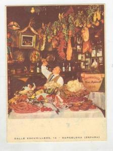 Full Spread @ Los Caracoles Restaurant,Barcelona,Spain 1960-70s