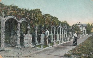 ST. PETERSBURG , Florida , 1909 ; The Shell Fence