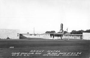 Highland Indiana Brant Motel Real Photo Antique Postcard K69828