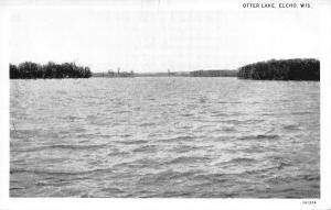 Elcho Wisconsin~Otter Lake~1931 B&W Postcard