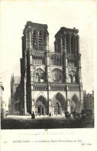 CPA Paris 4e (Dep. 75) La Chatedrale, Église Notre-Dame (88800)