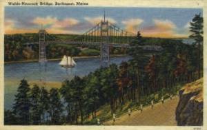 Waldo-Hancock Bridge Bucksport ME Postal Used Unknown