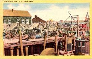 Massachusetts Gloucester Drying Fish Nets