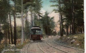 OTTAWA , Ontario , Canada , 1900-10s ; Rockliffe Park, Trolley on tracks