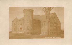 Durham New Hampshire~NH University Gymnasium~Tower on Corner~c1910 RPPC