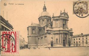 Belgique Namur Cathedral timbres TCV Belgium 1929