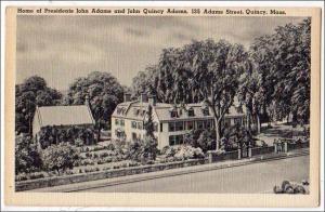 Home Pres Adams & John Quincy Adams, Quincy MA