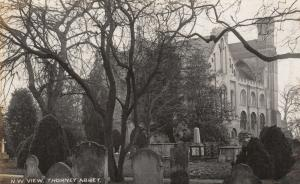 RP: THORNEY , England , 1900-10s ; N.W. View , Abbey & Cemetery