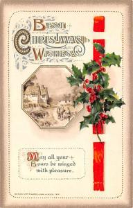 Christmas Postcard Old Vintage Antique Post Card Publisher John Winsch