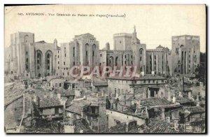 Old Postcard Avignon Vue Generale Du Palais Des Papes