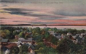 Birds eye View Lake And West Side Beaver Dam Wisconsin 1912