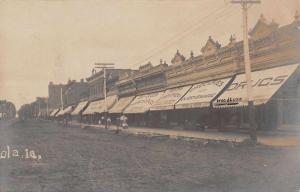 Osceola Iowa Street Scene Businesses Drug Store Real Photo Postcard J62673
