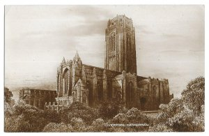 Liverpool Cathedral, unused Valentine X.L. Series Real Photo