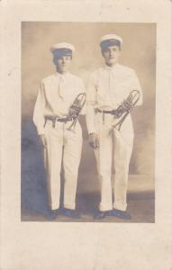 RP: Boys with trumpets in hand , CLARKSBURG , West Virginia , PU-1908