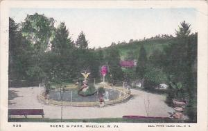 West Virginia Wheeling Scene In Park 1905